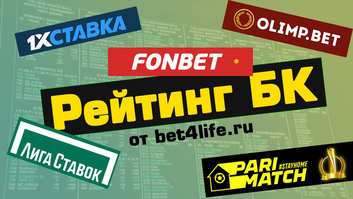 Рейтинг букмекерских контор России на 2020 год